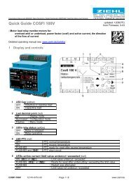 Quick Guide COSFI 100V - Ziehl industrie-elektronik GmbH + Co KG