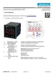 Kurzanleitung MINIPAN 352P - Ziehl industrie-elektronik GmbH + ...