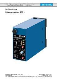 Rüttlersteuerung RSP 1 -  Ziehl industrie-elektronik GmbH + Co KG