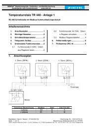 Temperaturrelais TR 440 - Ziehl industrie-elektronik GmbH + Co KG