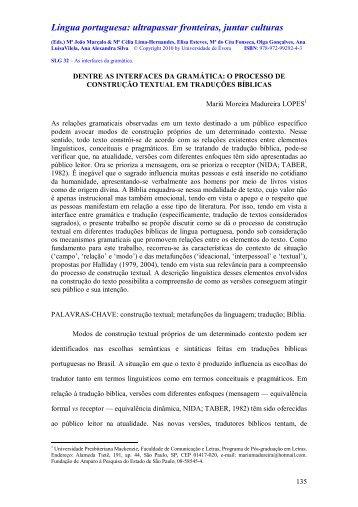 o processo de construção textual em traduções bíblicas - SIMELP - I ...