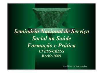 Ana Maria de Vasconcelos - CFESS