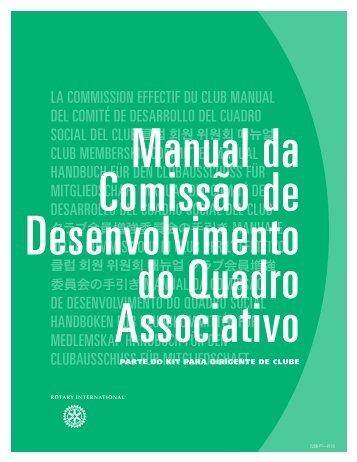 Manual da Comissão de Desenvolvimento do Quadro Associativo