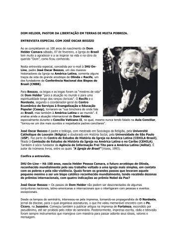 Entrevista com o Padre José Oscar Beozzo - Prêmios, Projetos e ...