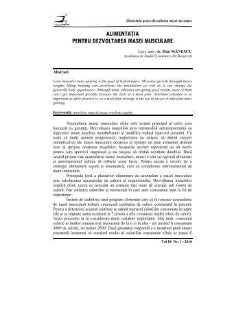 alimentaţia pentru dezvoltarea masei musculare - Academia de ...
