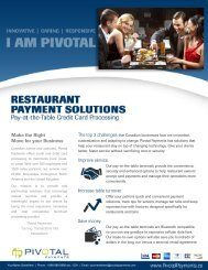 Restaurant Solutions from Pivotal Payments