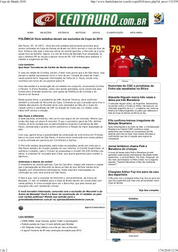 Copa do Mundo 2010 - Comunicação