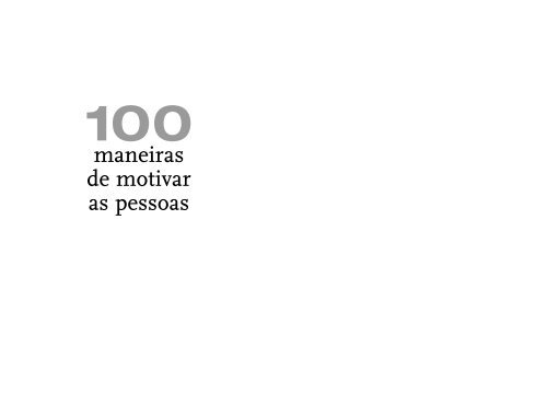 Maneiras De Motivar As Pessoas Livrarias Curitiba