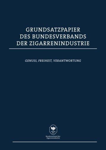 grundsatzpapier des bundesverbands der zigarrenindustrie