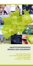 Gemeinschaftsstand NRW: Programm und  Ausstellerverzeichnis