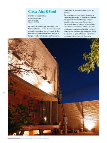 Casa Abu&Font - mdc . revista de arquitetura e urbanismo