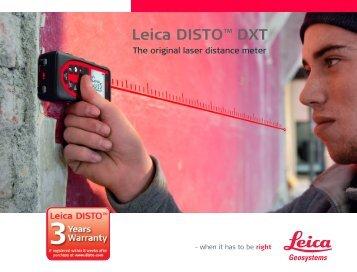 Leica DISTO™ DXT - Leica Geosystems