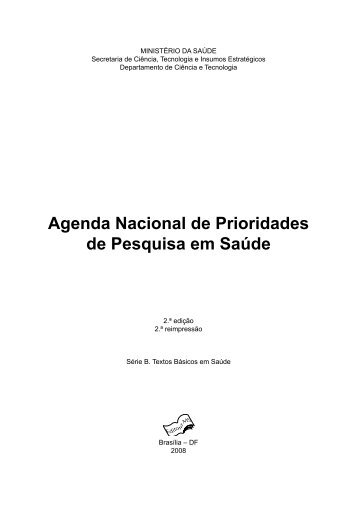 Agenda nacional de prioridades de pesquisa em saúde