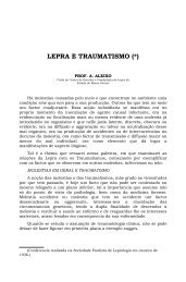 LEPRA E TRAUMATISMO (*)