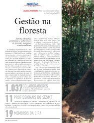 Gestão na floresta - Revista Proteção