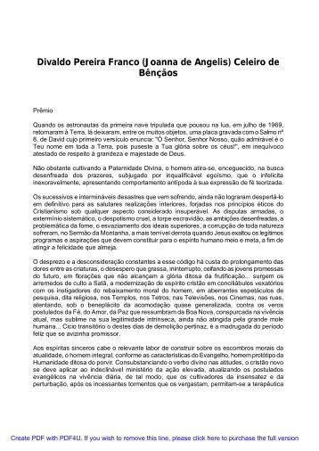 Divaldo Pereira Franco (Joanna de Angelis) Celeiro de ... - Uniluz