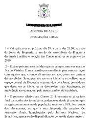 boletim informativo mensal abril 2011 - Freguesia de Vil de Matos