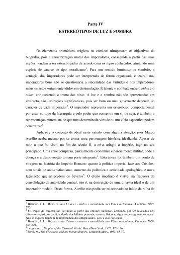 Parte IV ESTEREÓTIPOS DE LUZ E SOMBRA