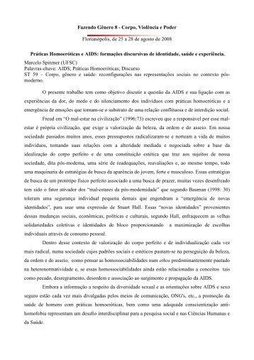Fazendo Gênero 8 - Corpo, Violência e Poder Florianópolis ... - UFSC