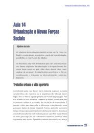 Aula 14 Urbanização e Novas Forças Sociais - Arquivos UNAMA