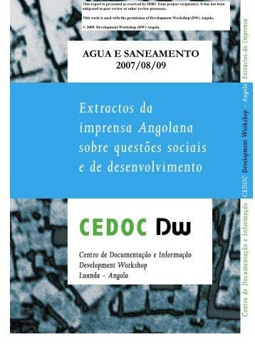 AGUA E SANEAMENTO 2007/08/09 - the IDRC Digital Library