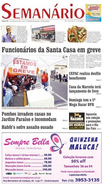 Funcionários da Santa Casa em greve - Semanário de Jacareí