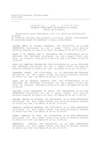 Leia o arquivo em PDF - Gazeta do Povo