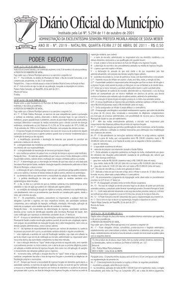 Diário Oficial do Município - Prefeitura do Natal