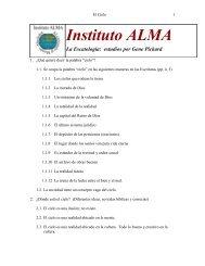 Instituto ALMA La Escatología: estudios por Gene Pickard