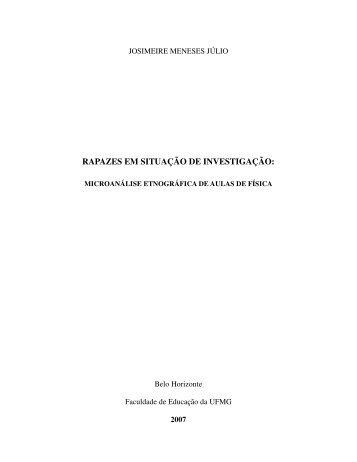 RAPAZES EM SITUAÇÃO DE INVESTIGAÇÃO: - Biblioteca Digital ...