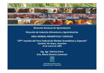 Presentación Ministerio de Agricultura - Nación - Alimentos Argentinos