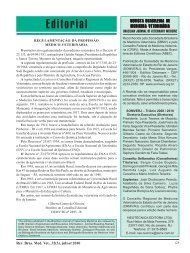Editorial - Revista Brasileira de Medicina Veterinária