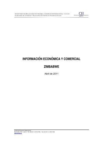 Información Económica y Comercial Zimbabwe - Abril 2011 - CEI