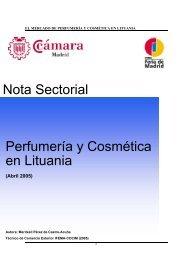 Nota Sectorial sobre el Sector de Perfumería y - exportmadrid.com