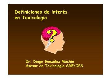 Definiciones de interés en Toxicología - BVSDE Desarrollo Sostenible