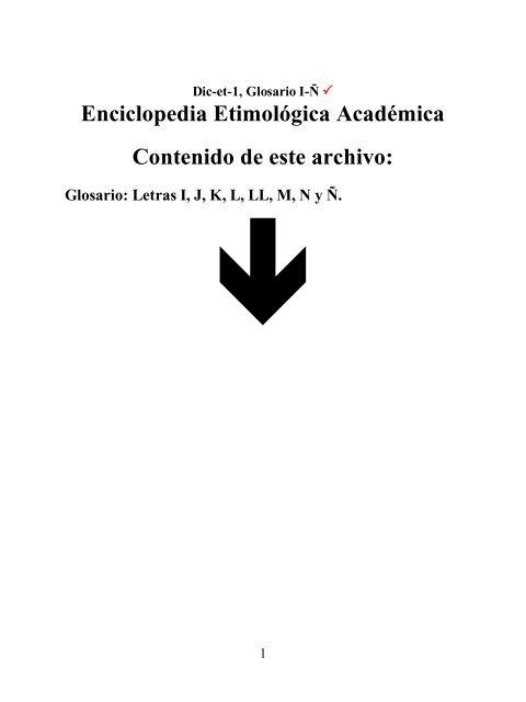Enciclopedia Etimológica Académica Contenido De Radio