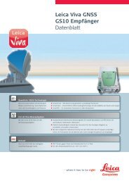 Leica Viva GNSS GS10 Empfänger Datenblatt - Zimmermann-Optik