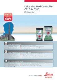 Leica Viva Feld-Controller CS10 & CS15 Datenblatt - allsat