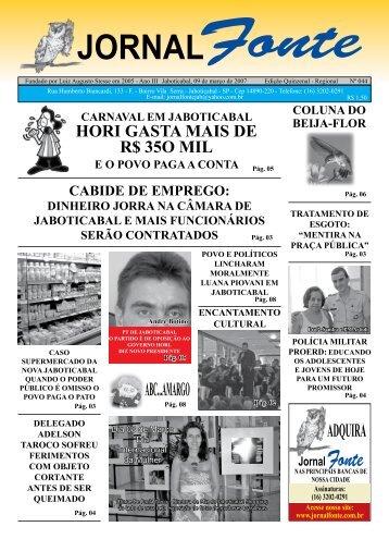 Edição 44 - Jornal Fonte