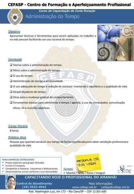 Cefasp Centro De Formação E Aperfeiçoamento Profissional