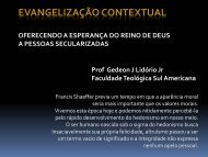 evangelização contextual oferecendo a esperança ... - Gedeon Lidorio