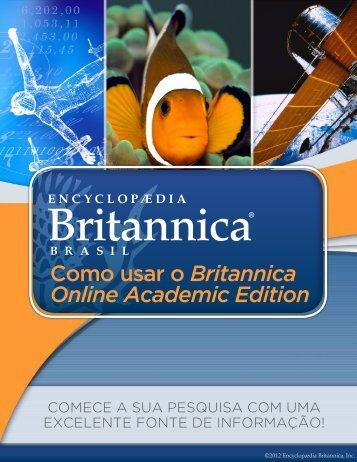 Como usar o Britannica Online Academic Edition