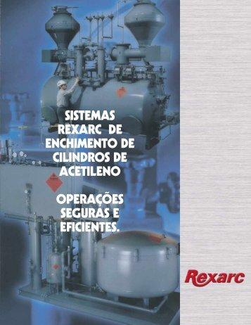 sistemas rexarc de enchimento de cilindros de acetileno operações ...