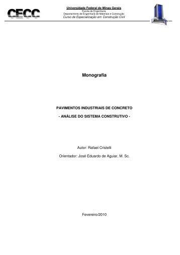 pisos industriais de concreto - análise do sistema ... - CECC - UFMG