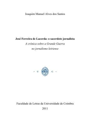 Portugal na Grande Guerra - Estudo Geral - Universidade de Coimbra