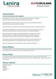 Apresentação Comercial 2013 - Lenira Telecom