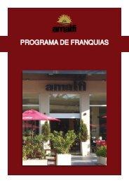 PROGRAMA DE FRANQUIAS - Amalfi