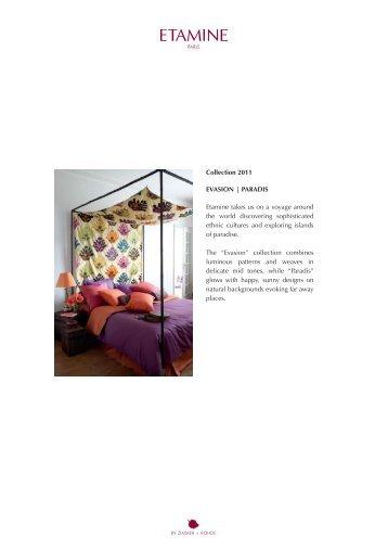 Collection 2011 Evasion | Paradis Etamine takes ... - Zimmer + Rohde