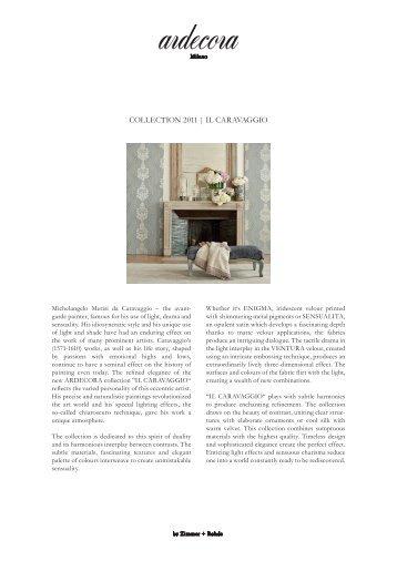 COLLECTION 2011 | IL CaravaggIO - Zimmer + Rohde