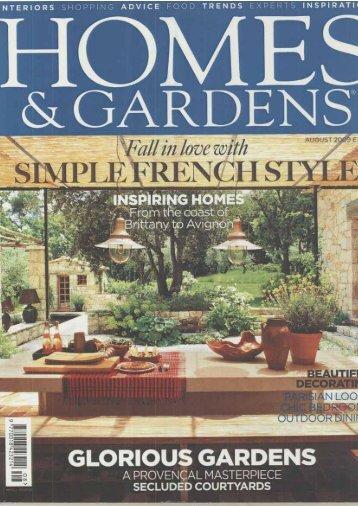 Extract House & Garden 08/2009 - Zimmer + Rohde